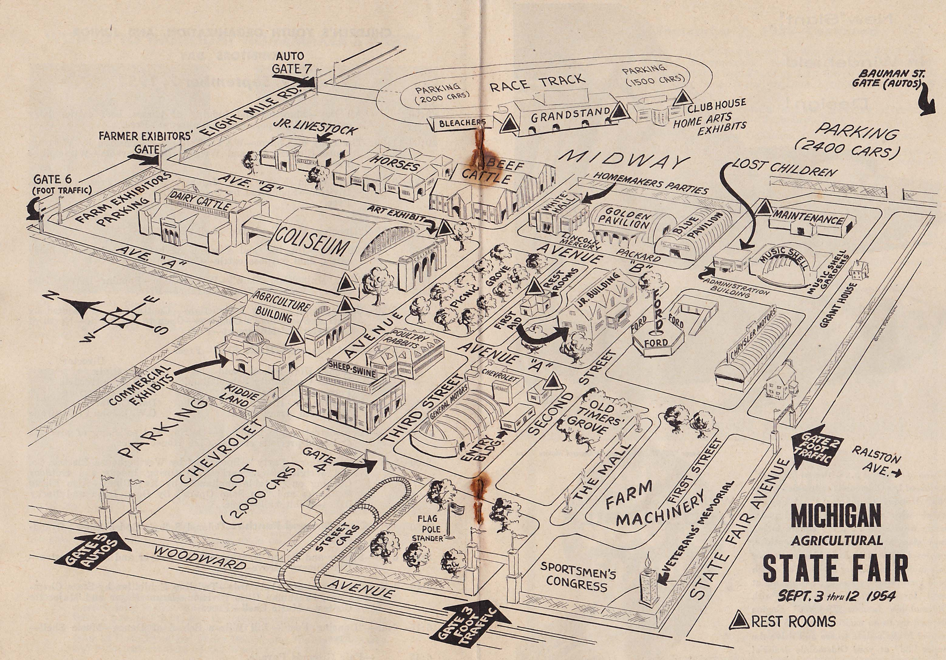 Michigan State Fair Map | Growing Up In And Around Detroit | Pinterest