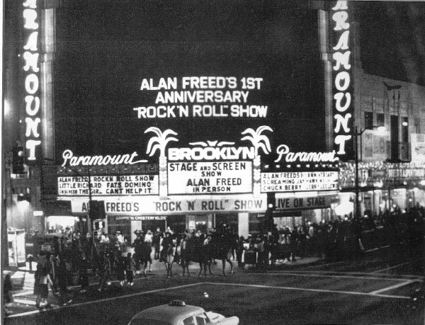 Alan Freed's 'Big Beat Show' at the Brooklyn Paramount in 1958.