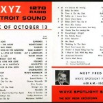 WXYZ-AM Spotlight Sound for October 13, 1964 (inside).