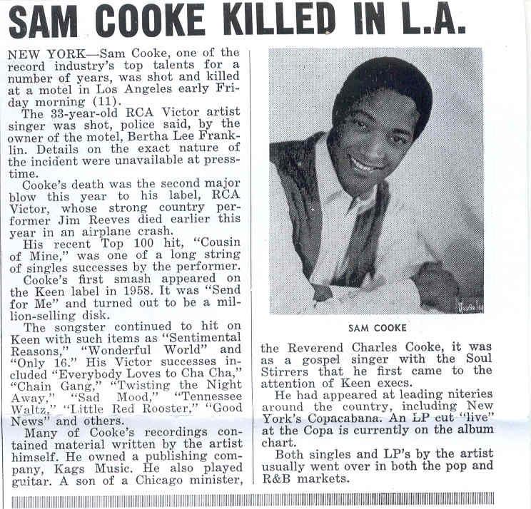 Sam Cooke Dead Body