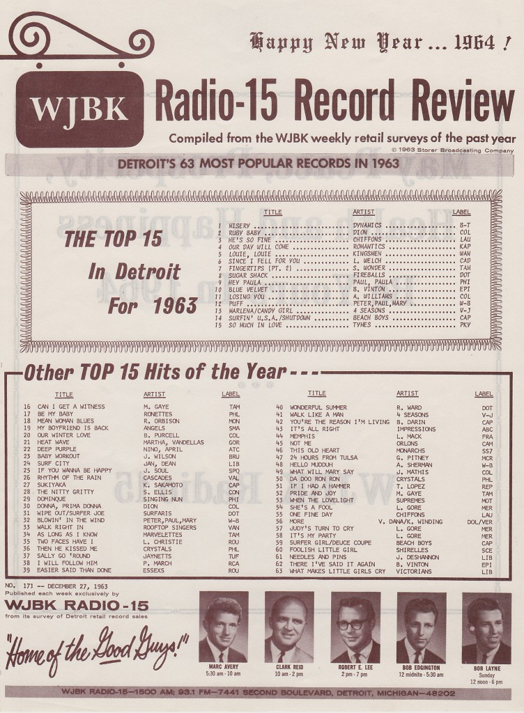 WJBK RADIO HAPPY NEW YEARS 1964