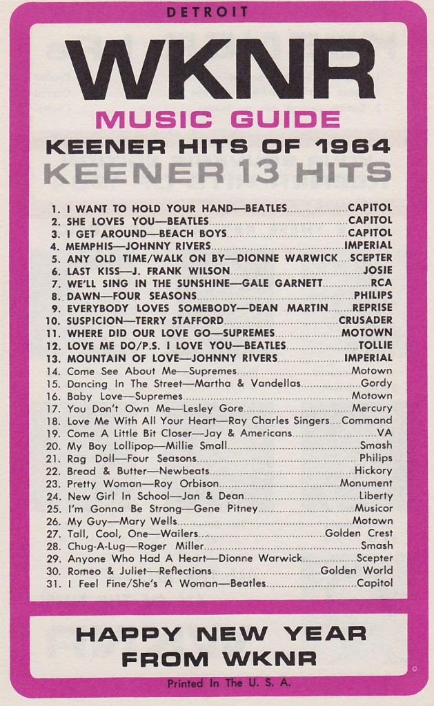 WKNR - HAPPY NEW YEARS 1964  FRONT