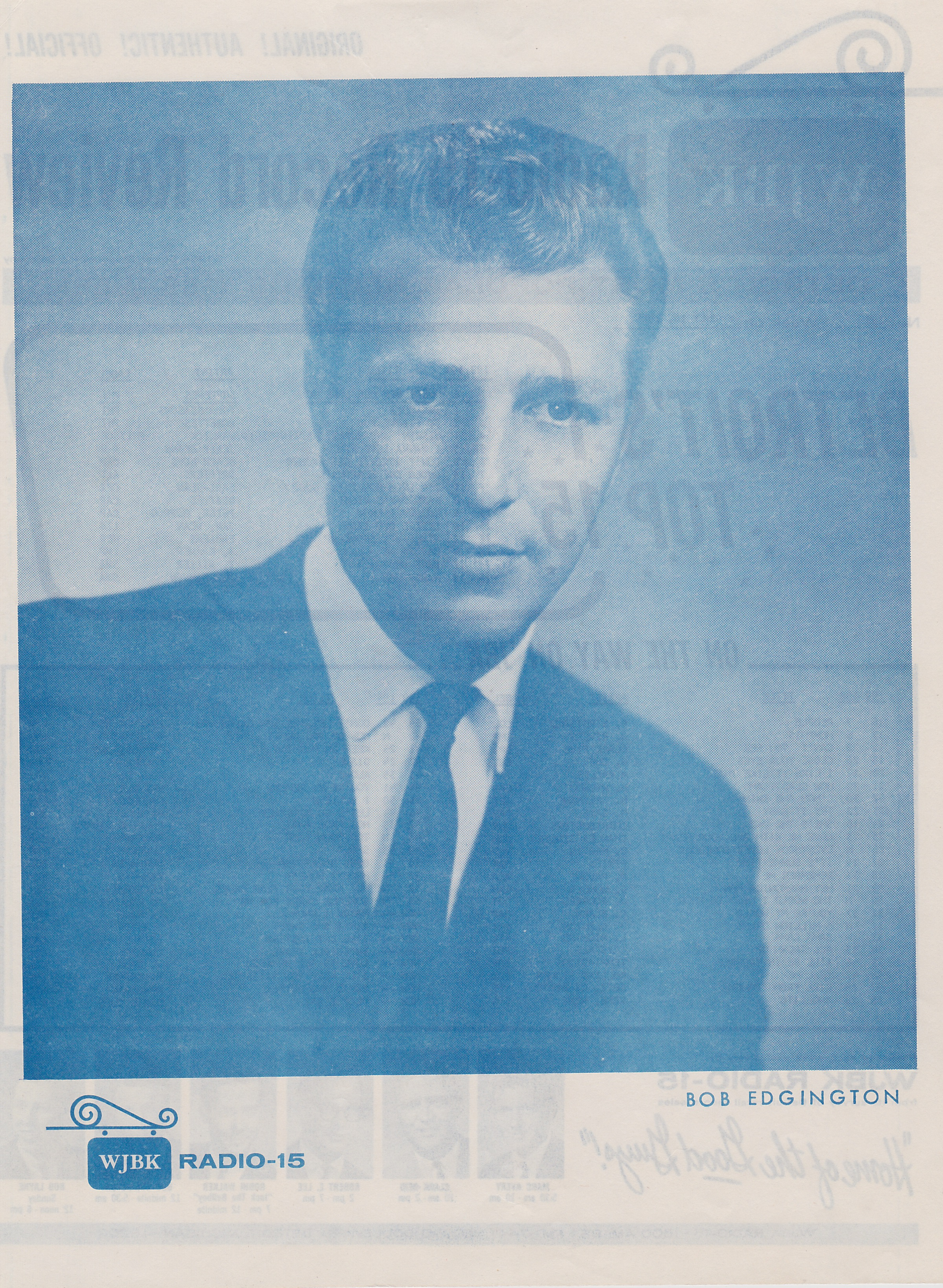WJBK - BOB EDGINGTON - BACK JULY 10, 1964