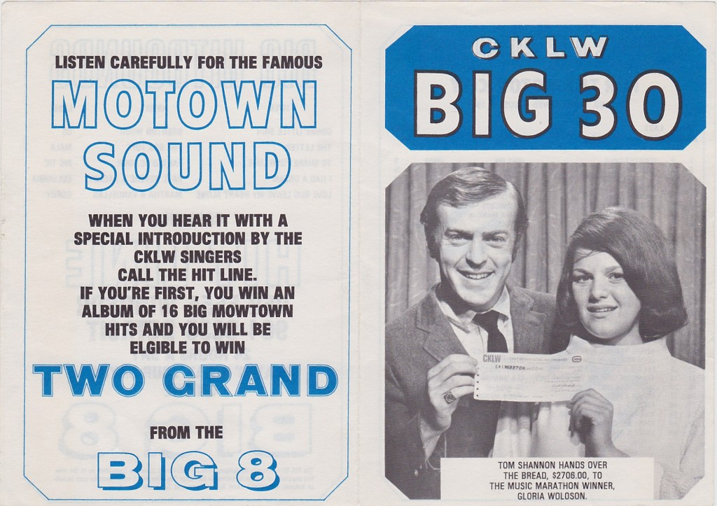 CKLW BIG 30 - FRONT AND BACK - AUGUST 8, 1967