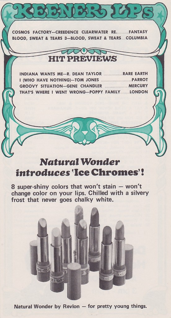WKNR MUSIC GUIDE - AUGUST 3, 1970 - BACK