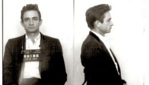 1965: Booked -- Johnny Cash for narcotics possession (click image for larger view)