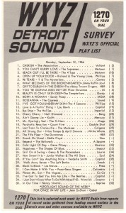 WXYZ-AM  radio survey, September, 1966