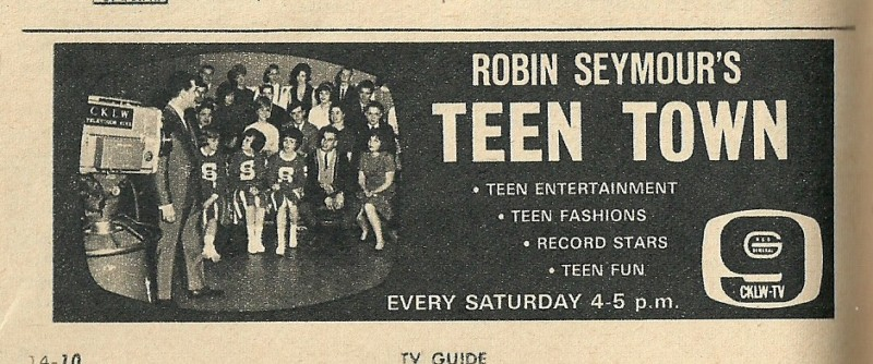 Robin Seymour's Teen Town CKLW TV-9 August 14 - 21, 1964