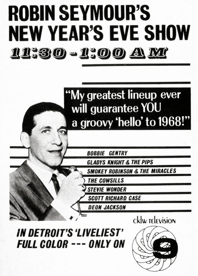 "REMEMBER THIS? Robin Seymour's New Years Eve CKLW-TV 9 ""Swingin' Time,' '67!"