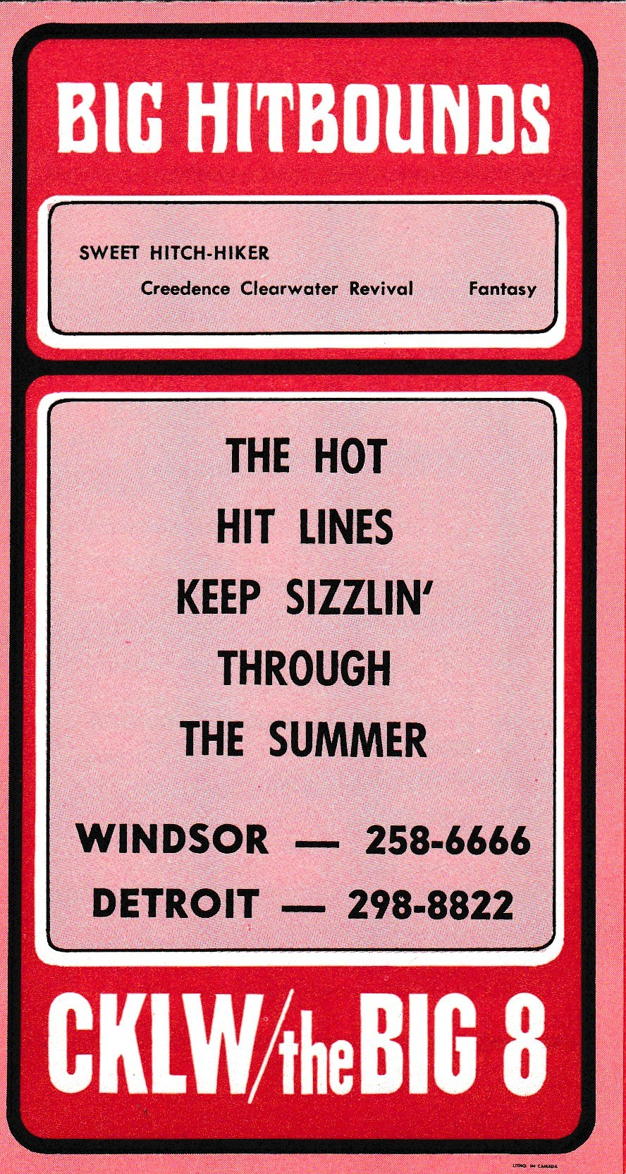 CKLW SURVEY BACK - JULY 5, 1971