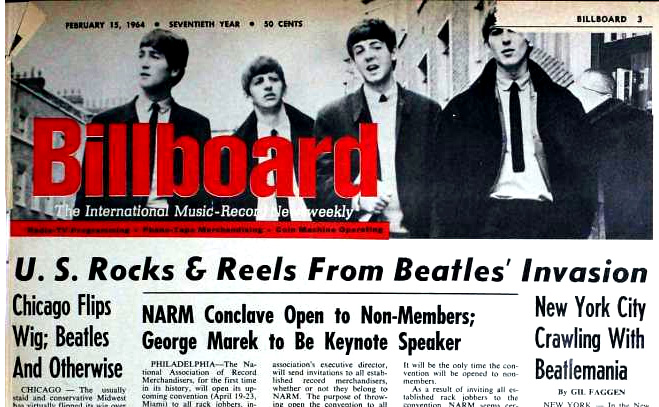 BEATLEMANIA! Billboard, February 15, 1964