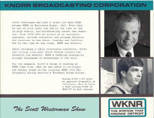 A Scott Westerman WKNR profile card (click on image for larger detailed view).