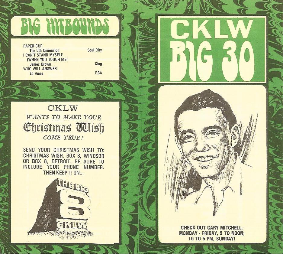 CKLW.December5.1967.Back.Front