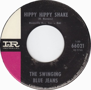 """Hippy Hippy Shake,"" Swinging Blue Jeans, Imperial (1964). (Click on image for largest view)."