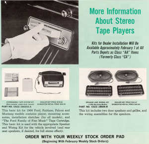 A 1966 Ford Motor Company ad for 8-track automobile players. (Click on image for largest view).