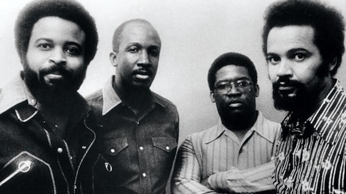 THE JAZZ CRUSADERS circa 1971. Joe Sample (pianist); Stix Hooper (bassist); Wilton Felder (saxophonist); Wayne Henderson (Trombonist).