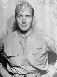 John Payne in Army uniform, 1943.