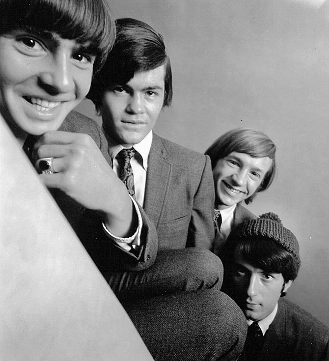 The Monkees, a' promotional shot: David Jones, Micky Dolenz, Peter Tork and Michael Nesmith, 1966.