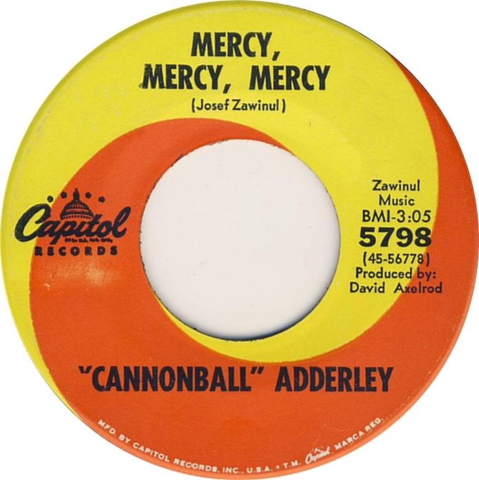 Cannonball Adderley Mercy Mercy Mercy