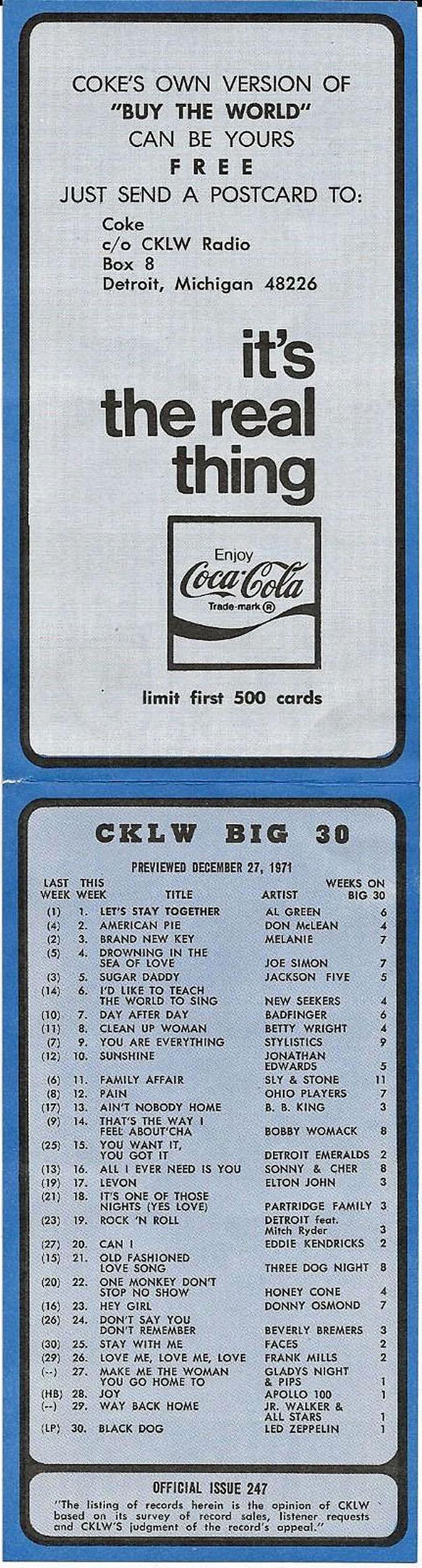 CKLW December 27, 1971 (inside)